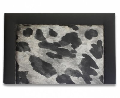 Blockley Black And White Faux Cow Hide Headboard