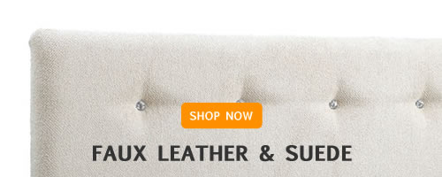 Wall Hung Faux Leather & Suede Headboards