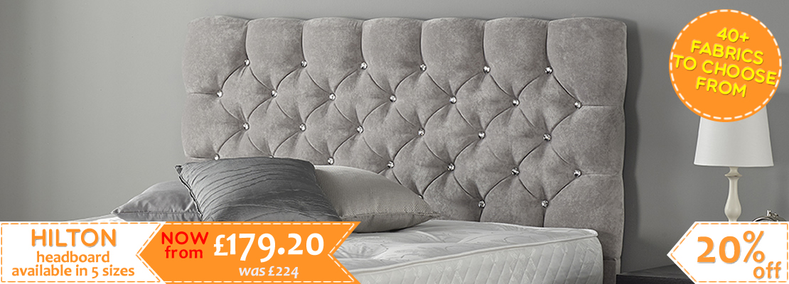 HOMEPAGE - Hilton Headboard - 40+ Colours