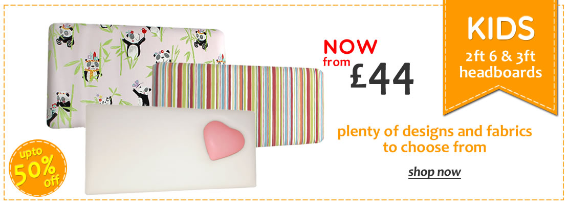 Upto 50% off Childrens Headboards