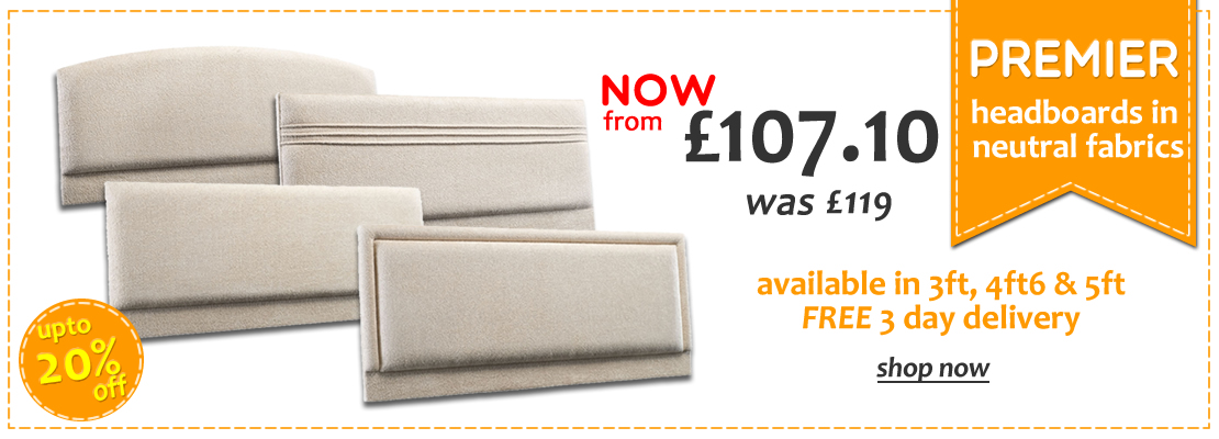 Premier Fabric Headboards with FREE 72 Hour Delivery