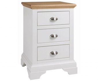 Hampstead Two Tone 3 Drawer Bedside Chest