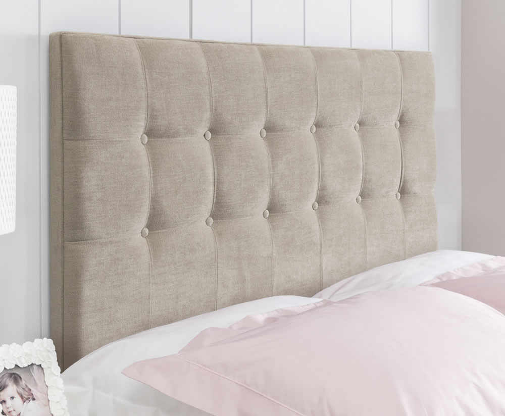 justheadboards.co.uk Ravello Faux Suede Headboard small single size - 2ft 6 faux suede cream wall mounted fixings