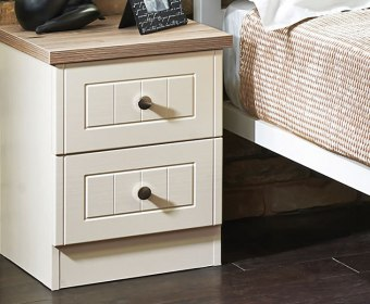 Levante Two-Tone 2 Drawer Bedside Chest