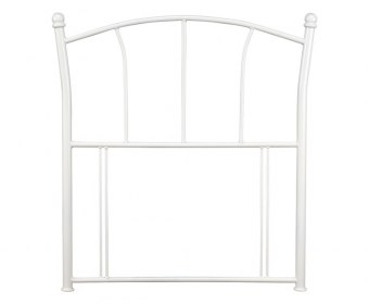 Penelope White Childrens Metal Headboard