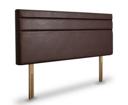 Tansy Faux Leather and Suede Upholstered Headboard