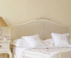 Ivy Painted Rattan Headboard