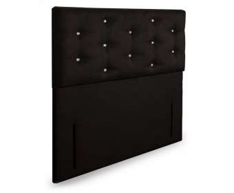 Snapdragon Faux Leather and Suede Floor Standing Headboard