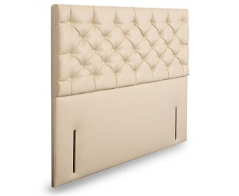 Lavender Faux Leather and Suede Floor Standing Headboard