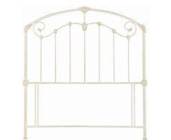 Lauren Antique Ivory Metal Headboard