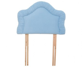 Chloe 2ft 6 Cornflower Blue Velour Upholstered Headboard *Special Offer*