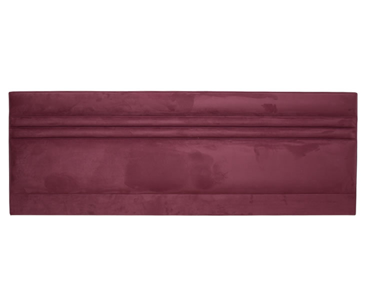 justheadboards.co.uk Padstow 6ft Plum Faux Suede Headboard *Special Offer* super king size - 6ft faux suede plum headboard with struts