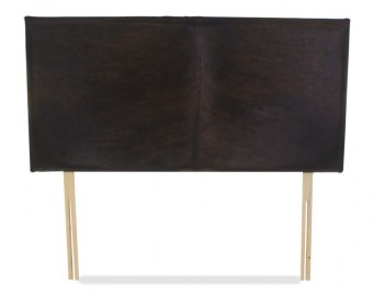 Darwin 4ft 6 Genuine Brown Cowhide Headboard *Special Offer*