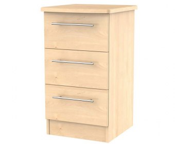 New Sherwood Maple 3 Drawer Bedside Chest