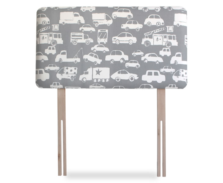 cars childrens upholstered headboard small single size