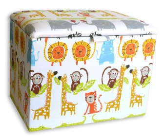 Jungle Childrens Upholstered Ottoman