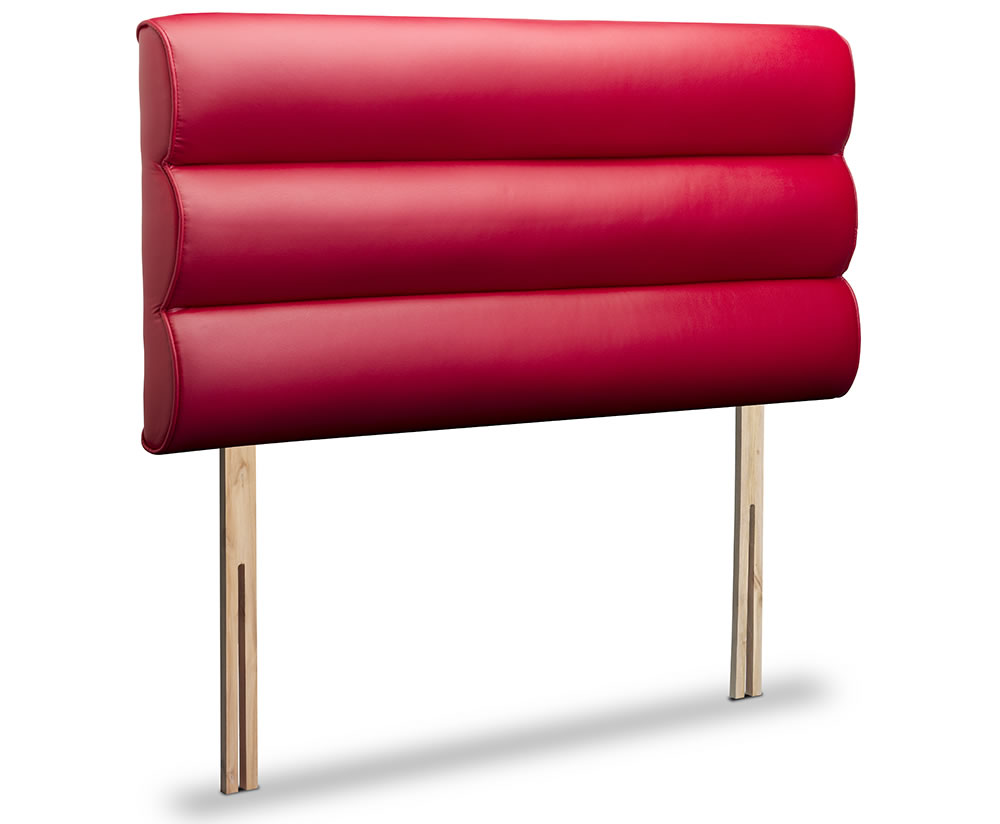marta 6ft red faux leather boutique headboard