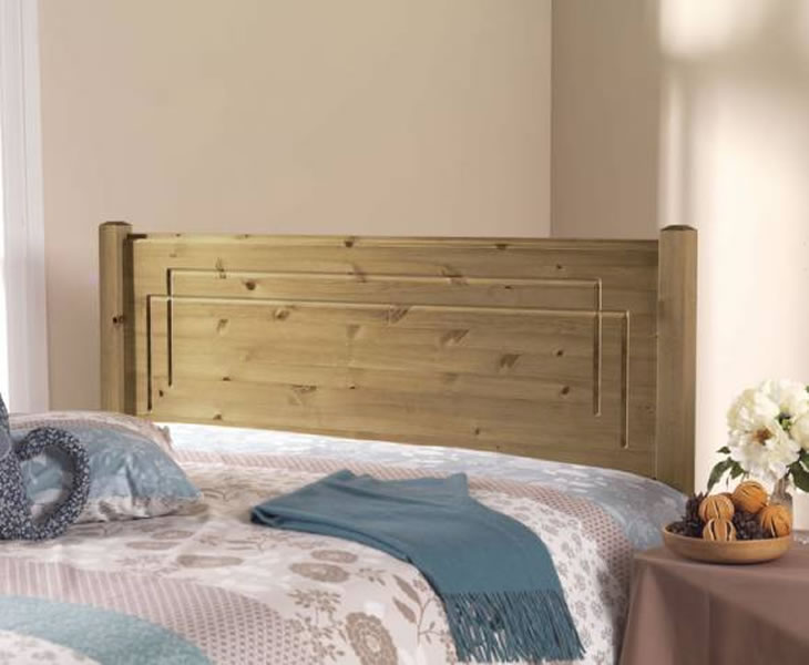 Vegas Pine Wooden Headboard small single size - 2ft 6 wooden antique finish