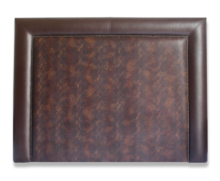 justheadboards.co.uk Maine Brandy Faux Snake Skin Boutique Headboard small double size - 4ft brandy faux snake skin middle 89cm Height wall mounted fixings
