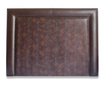 Maine Brandy Faux Snake Skin Boutique Headboard