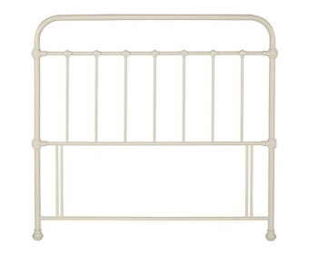 Mary 4ft 6 Ivory Metal Headboard *Special Offer*