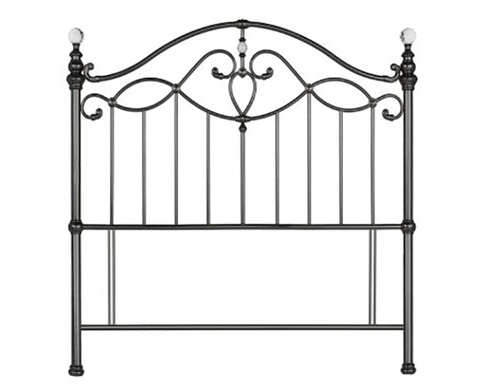 Headboards Elena Black Nickel Metal Headboard small double size - 4ft