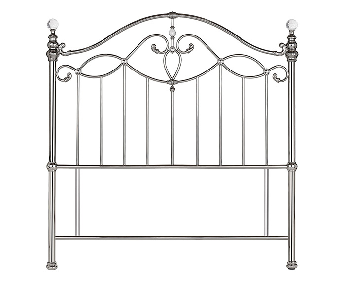 Headboards Elena Shiny Nickel Metal Headboard small double size - 4ft