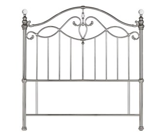 Elena Shiny Nickel Metal Headboard