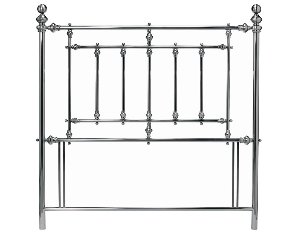 justheadboards.co.uk Imperial Nickel Metal Headboard double size - 4ft 6