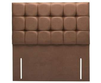 Bari 4ft 6 Cocoa Saddle Faux Leather Floor Standing Headboard *Special Offer*