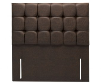 Bari 4ft 6 Chocolate Saddle Faux Leather Headboard *Special Offer*