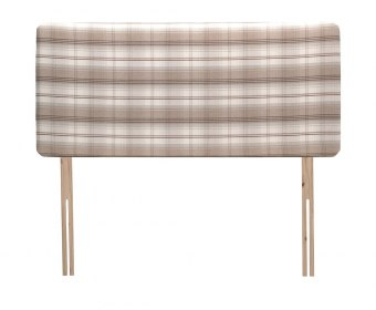 Bellagio 4ft6 Taupe Check Upholstered Headboard *Special Offer*