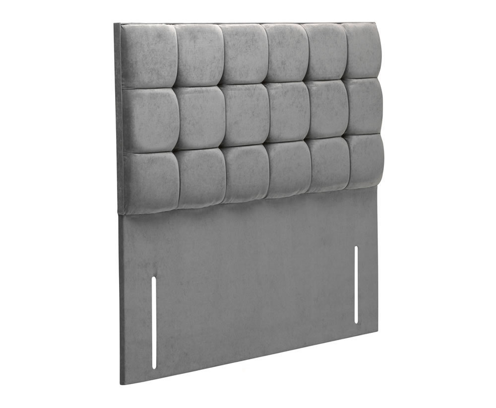 Headboards Bari Faux Leather and Suede Headboard small single size - 2ft 6 faux leather black