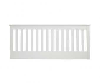Heather Opal White Slatted Headboard