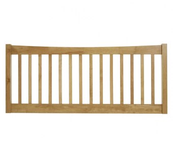 Beatrice Honey Oak Slatted Headboard