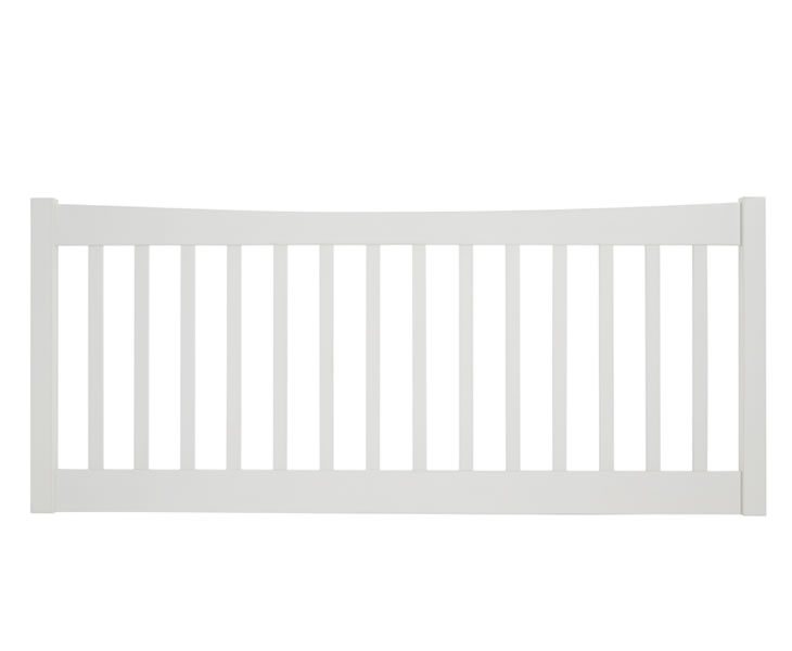 Headboards Beatrice Opal White Slatted Headboard single size - 3ft