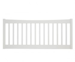 Beatrice Opal White Slatted Headboard
