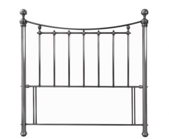 Isabelle Nickel Metal Headboard