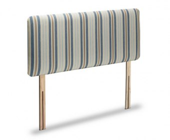 Venus 2ft 6 Chenille Blue Stripe Headboard *Special Offer*