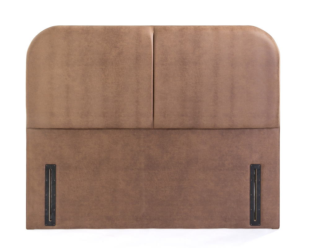 Headboards Amelia Faux Leather & Suede Floor Standing Headboard single size - 3ft faux suede chocolate
