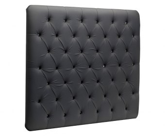 Linda Faux Crystal Buttoned Wall Headboard
