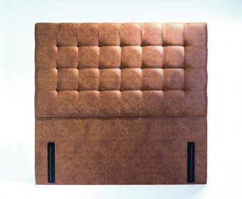 Viscount Faux Leather and Suede Floor Standing Headboard