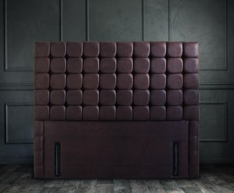 Somerset Faux Leather and Suede Floor Standing Headboard