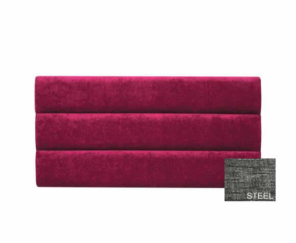 justheadboards.co.uk Banbury Soft Touch Steel 4ft Upholstered Panel Headboard *Special Offer* small double size - 4ft soft touch steel finish