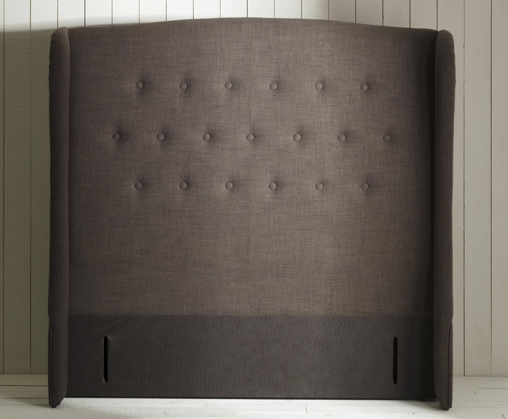 Headboards Wyoming Upholstered Floor Standing Headboard large single size - 3ft6 plush silver