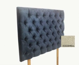 Tiffany 4ft 6 Muse Egg Shell Upholstered Headboard *Special Offer*