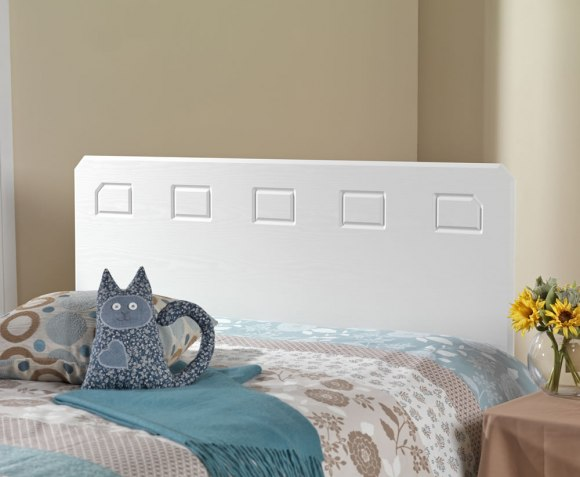 Headboards Miami White 2ft 6 Headboard *Special Offer*