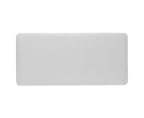 justheadboards.co.uk New Madison 3ft Silver Metallic Faux Leather Headboard *Special Offer*