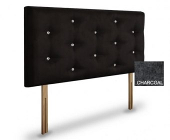 Snapdragon 4ft 6 Charcoal Chenille Headboard *Special Offer*