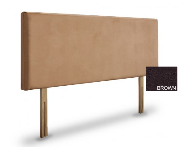 justheadboards.co.uk Daisy 4ft 6 Brown Faux Leather Headboard *Special Offer*